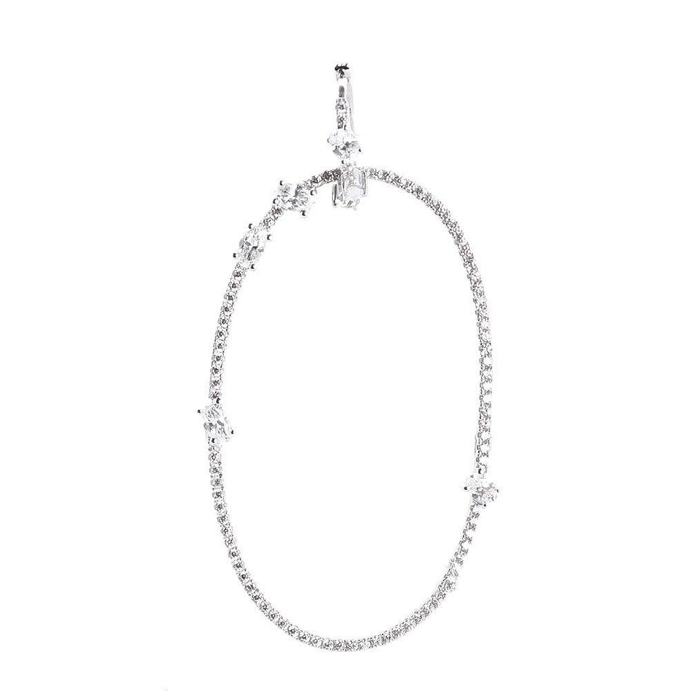 Серебряная моно-серьга с подвеской в форме кольца APM Monaco с цирконами