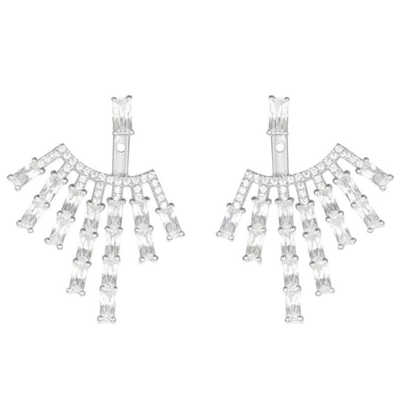 Серебряные серьги с цирконами APM Monaco