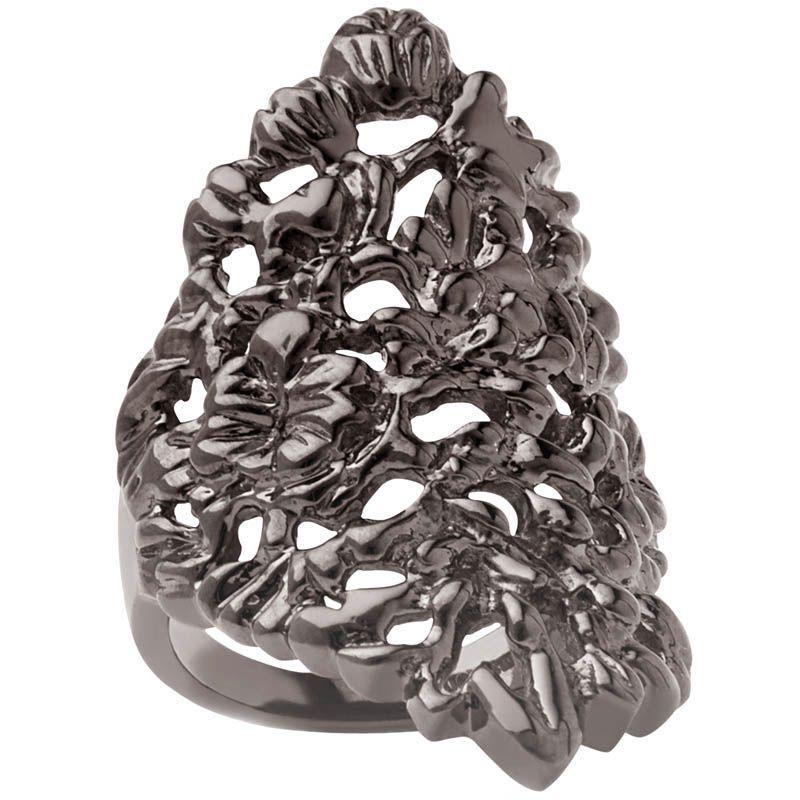 Кольцо Armadoro Jewelry скульптурное с покрытием из черного золота