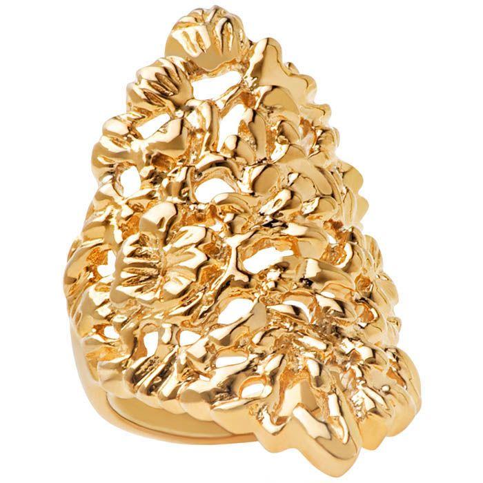 Кольцо Armadoro Jewelry скульптурное с золотым покрытием