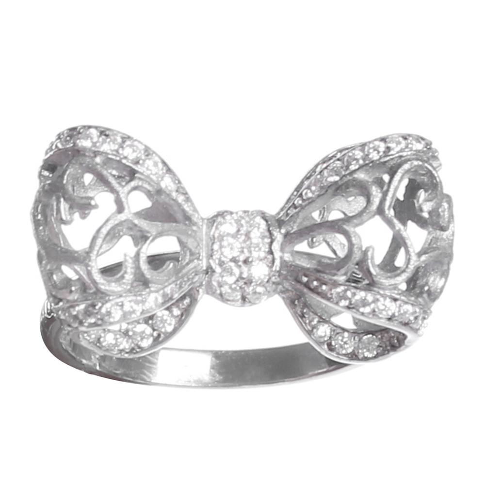 Серебряное кольцо Misis Bon Ton с бантом