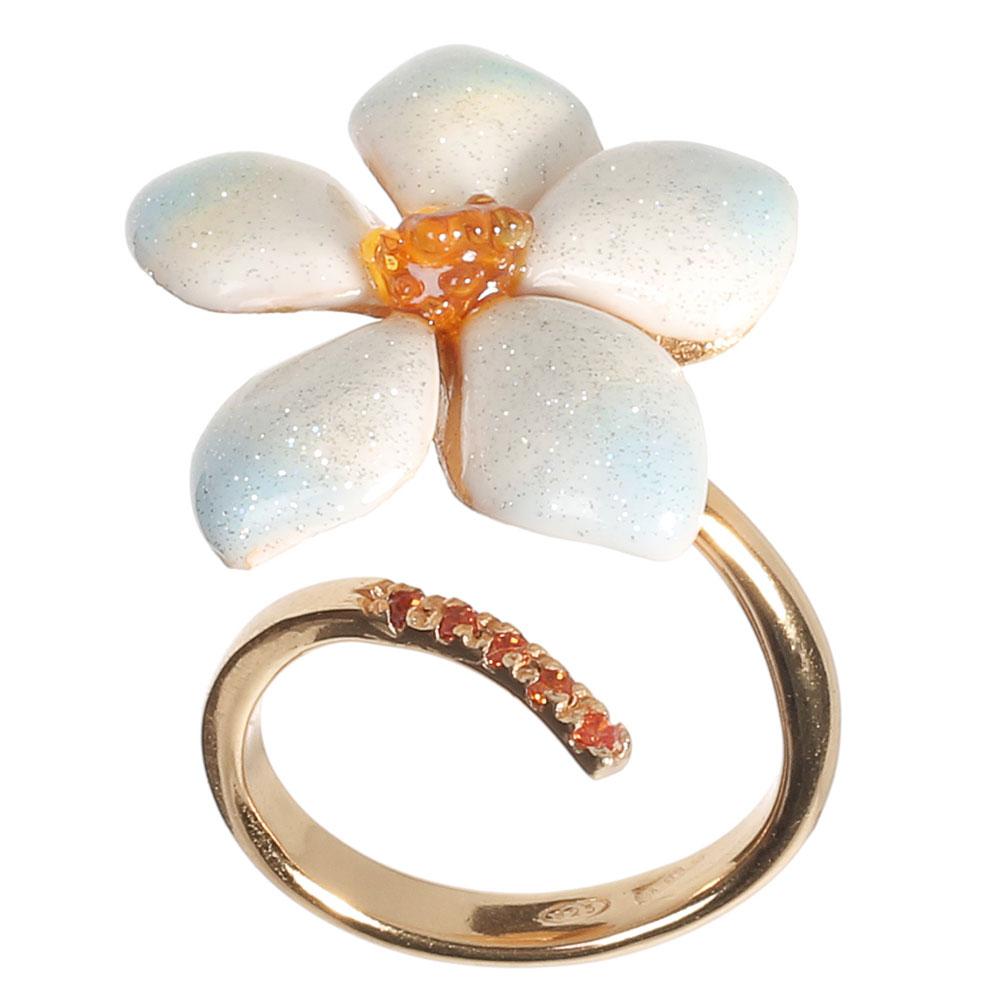 Разомкнутое кольцо Misis с цирконами