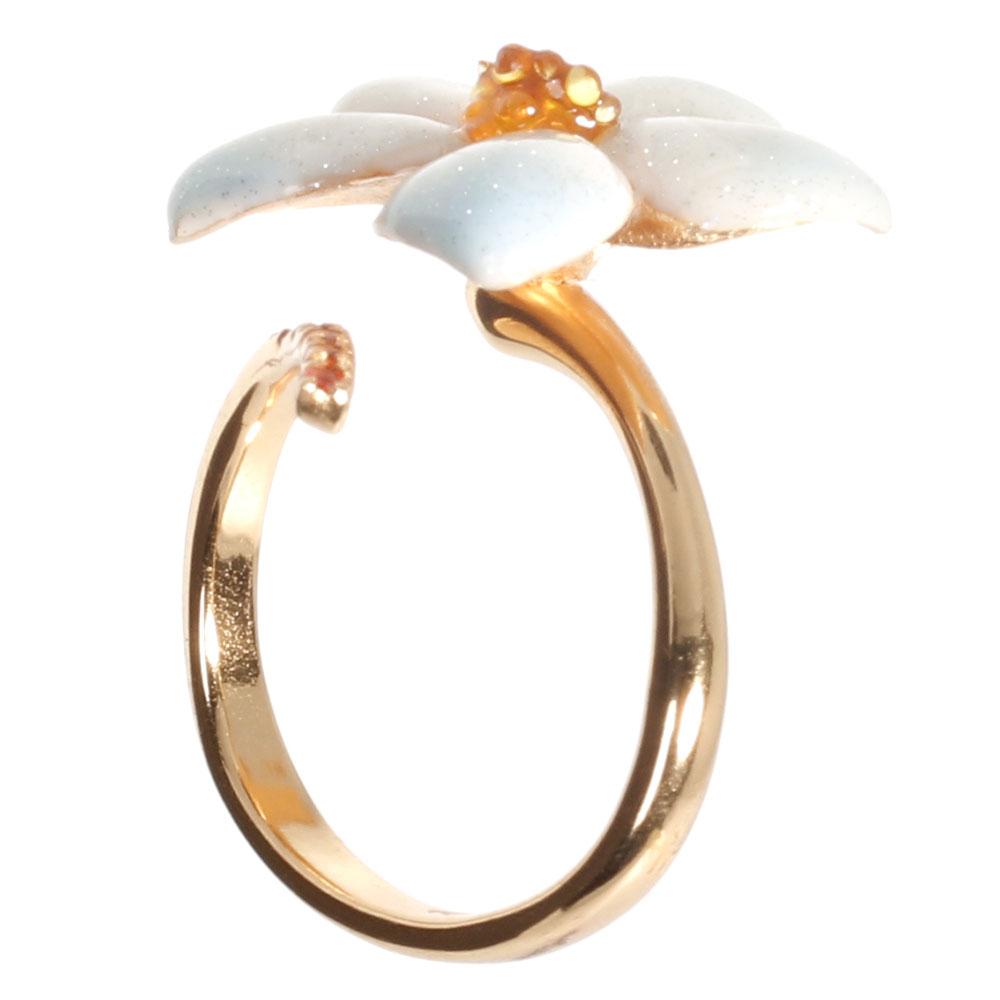 Кольцо Misis De Rerum Natura в виде спирали с нежным цветком