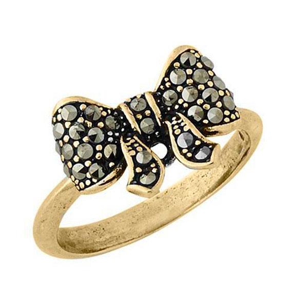 Перстень Misis Sophia с марказитами на бантике