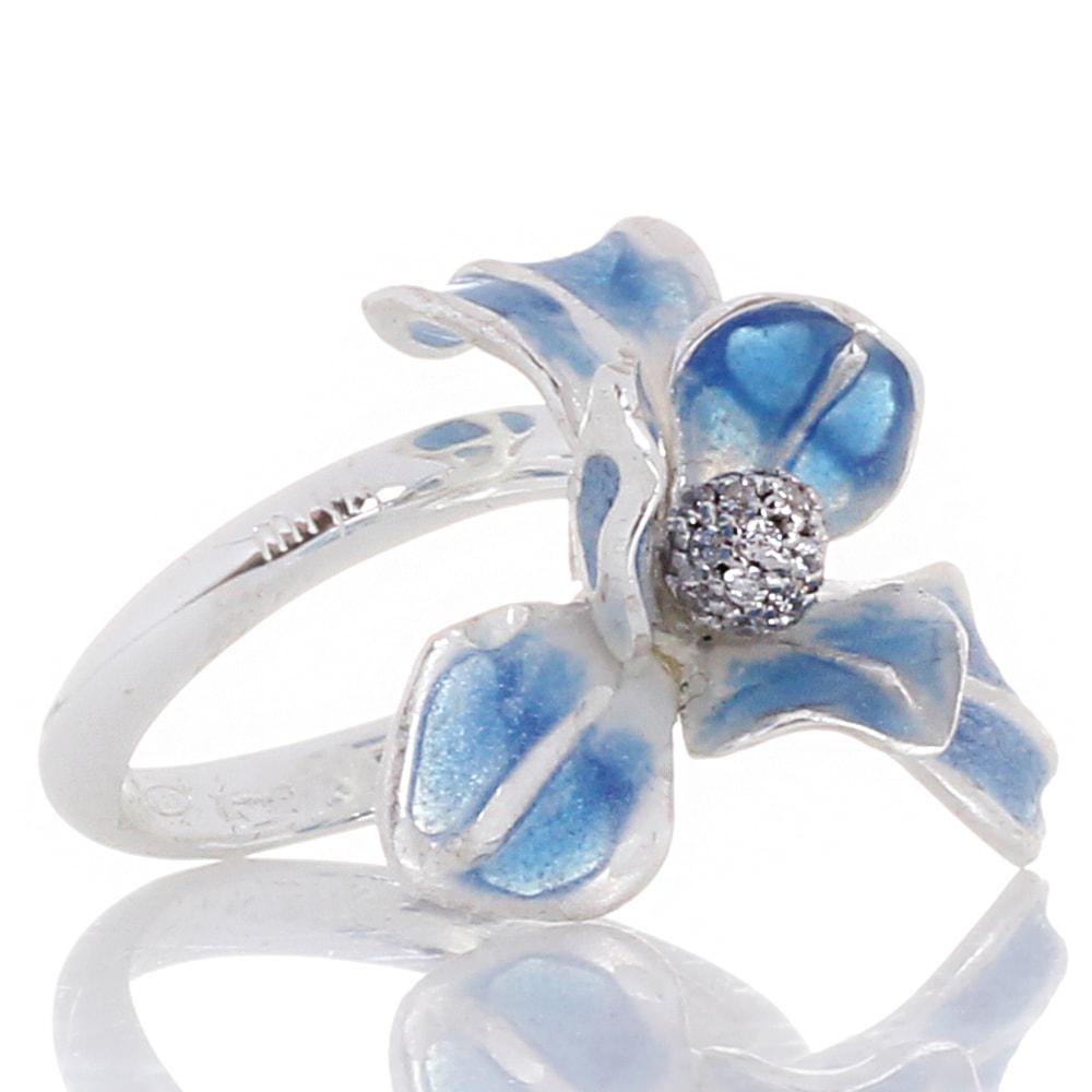 Кольцо Misis Gemina с цветком и цирконами