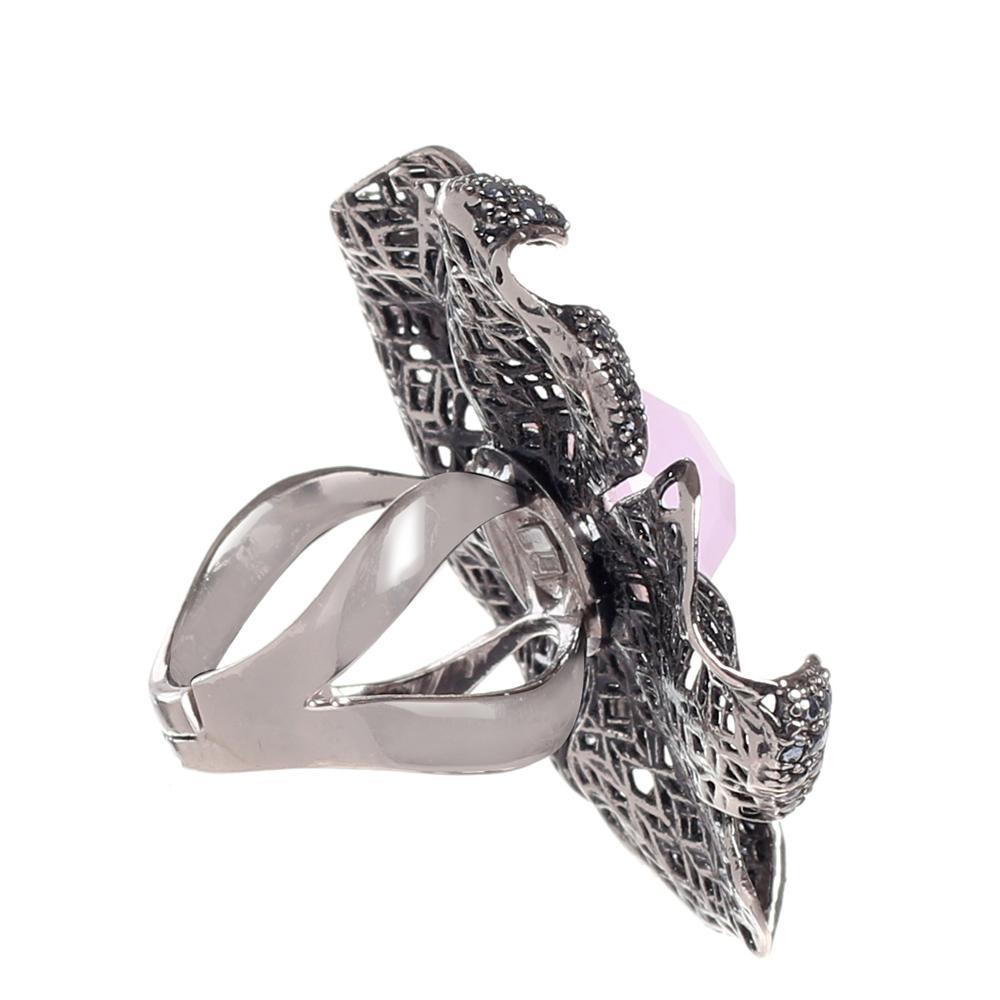 Кольцо из серебра Misis с ажурным цветком