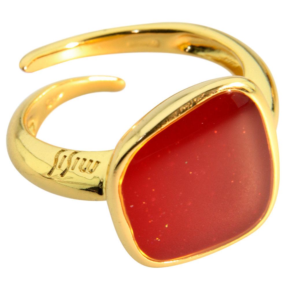 Перстень Misis Versailles с красной мерцающей эмалью