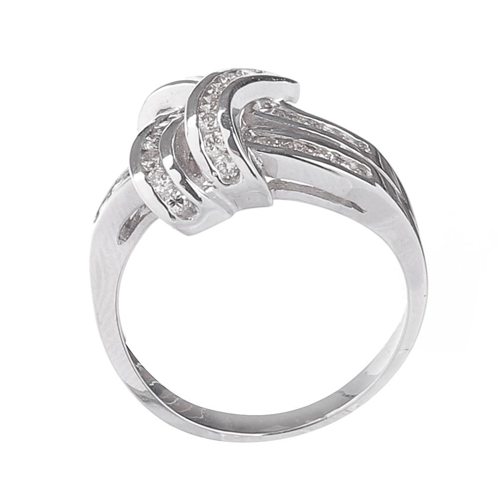 Кольцо из белого золота D.B Узелок с бриллиантами