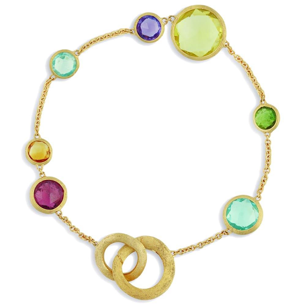 Женственный браслет Marco Bicego Jaipur с драгоценными камнями