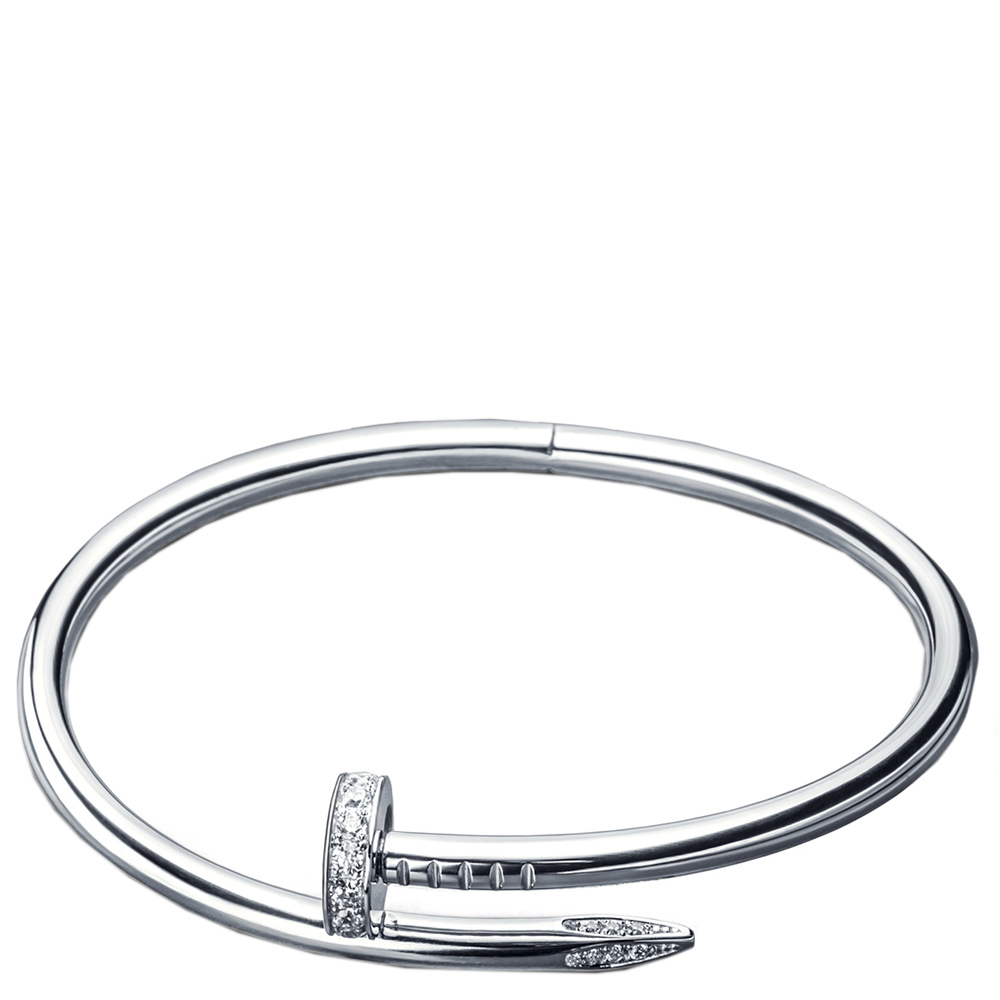 Браслет Cava.cool в виде согнутого гвоздя из серебра