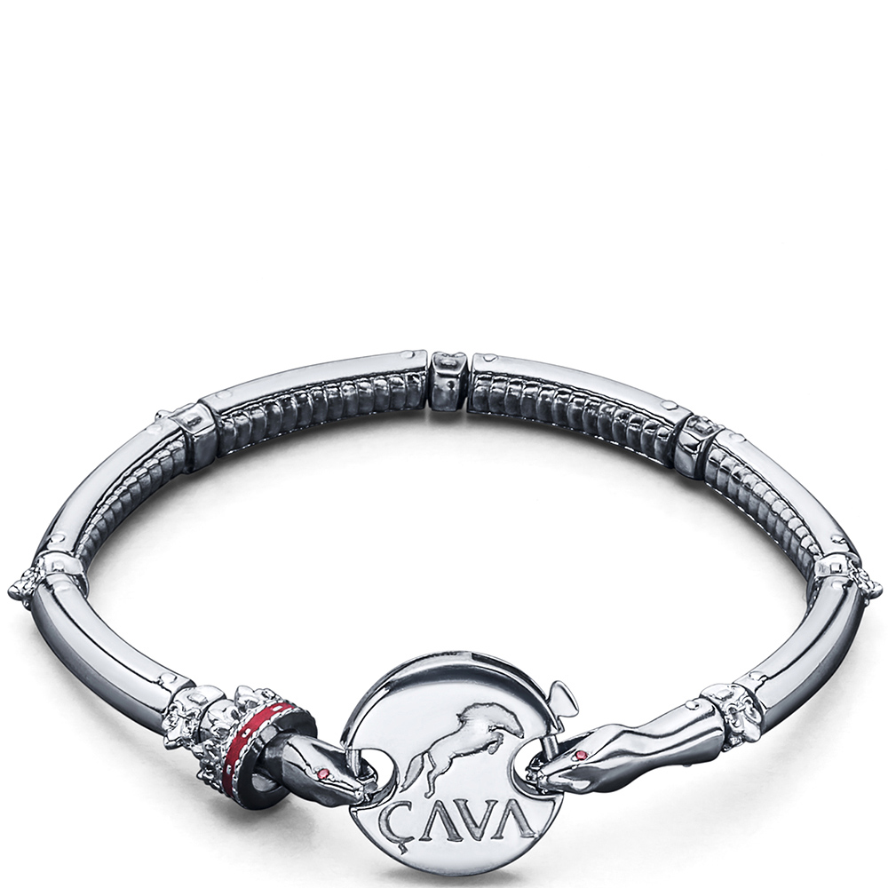Браслет Cava.cool из серебра в виде змеи
