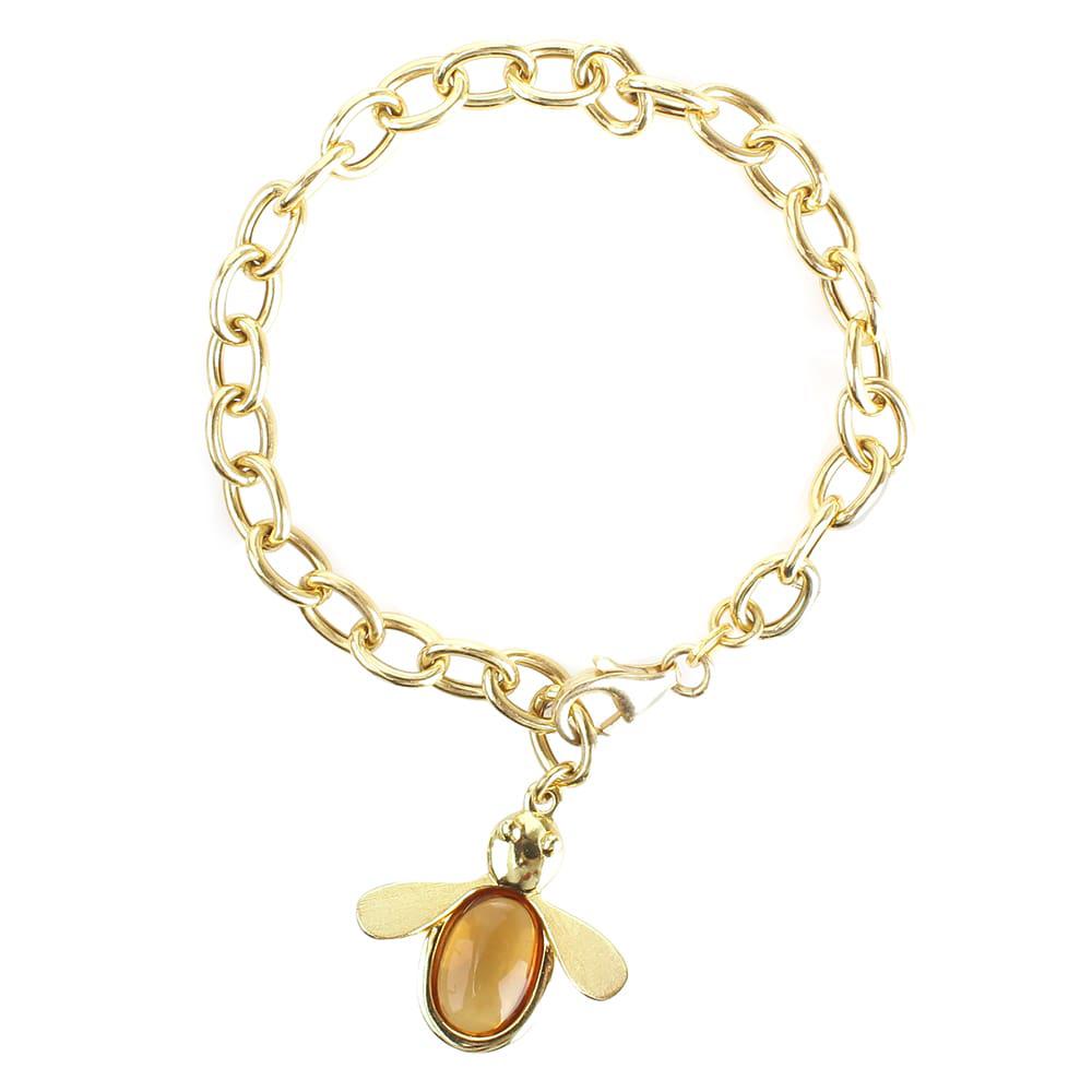 Серебряный браслет Misis с кулоном в виде пчелы