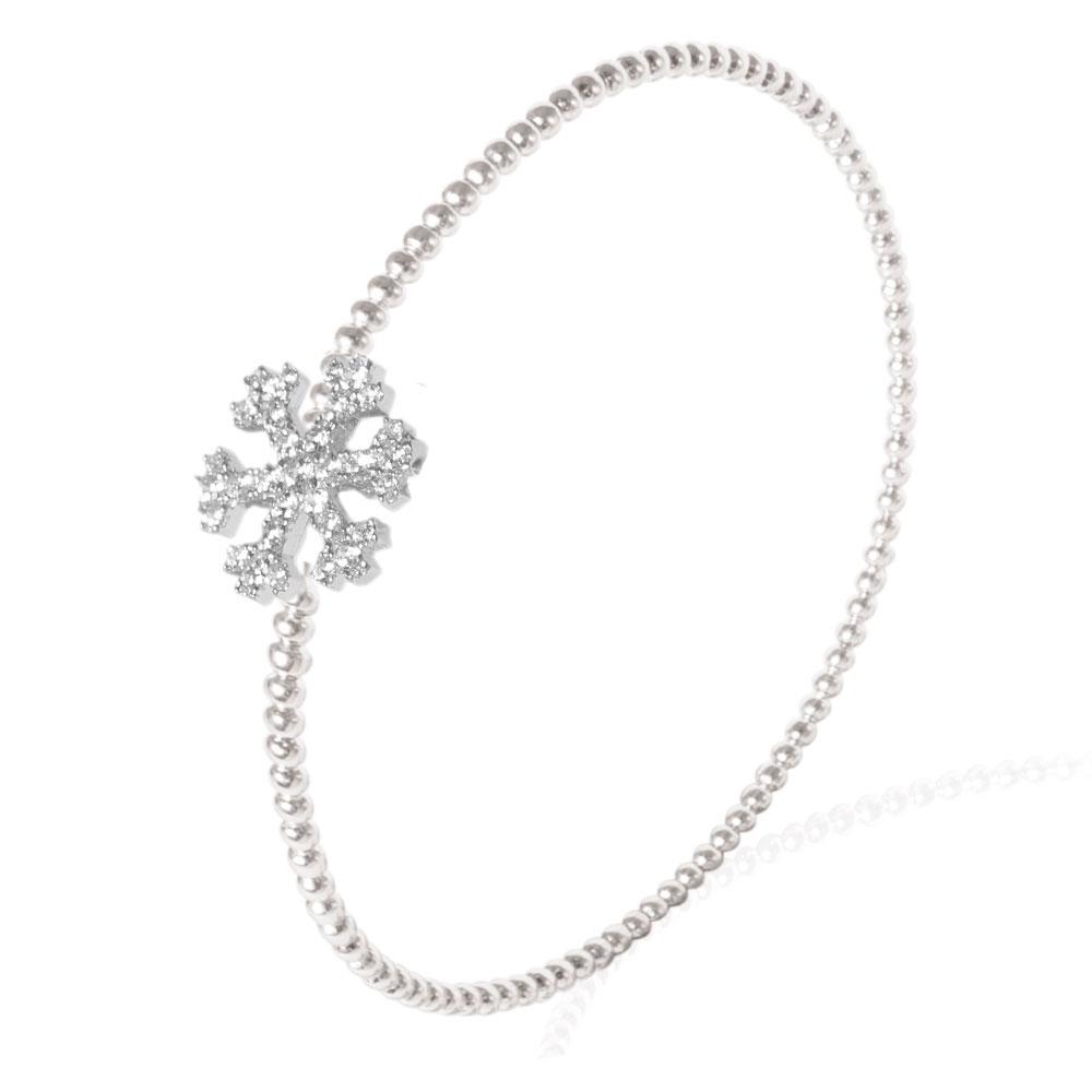Серебряный браслет Misis с подвеской в форме снежинки