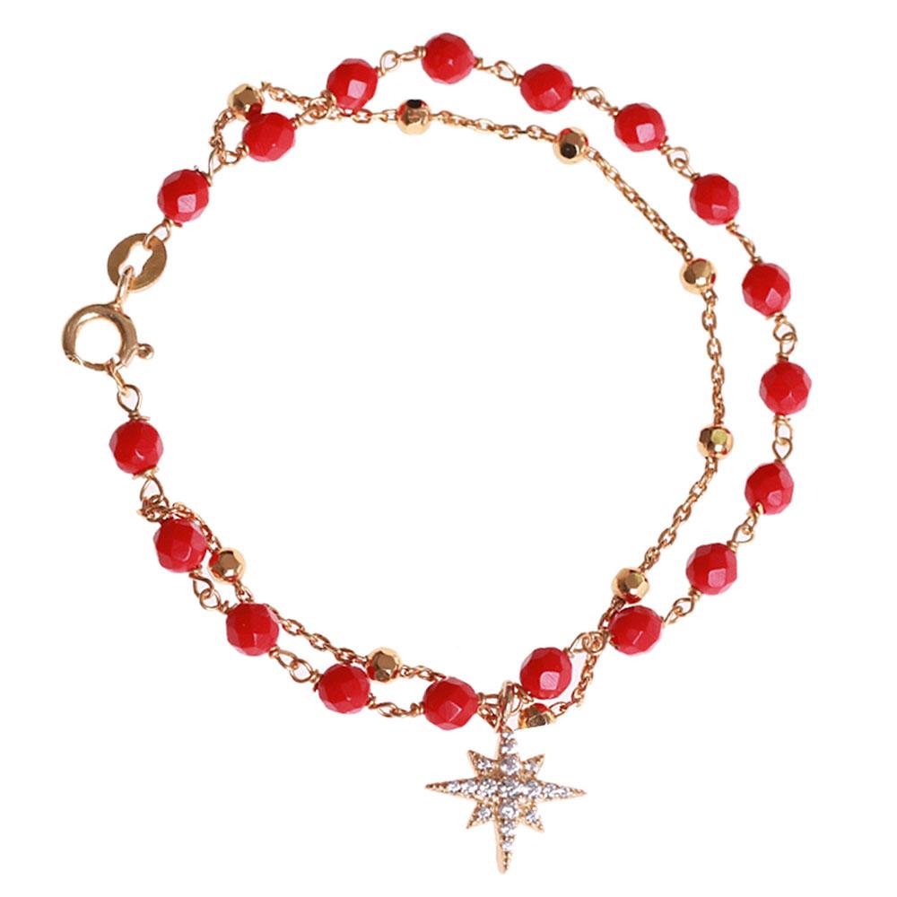 Серебряный браслет Misis Stella с подвеской в виде звезды