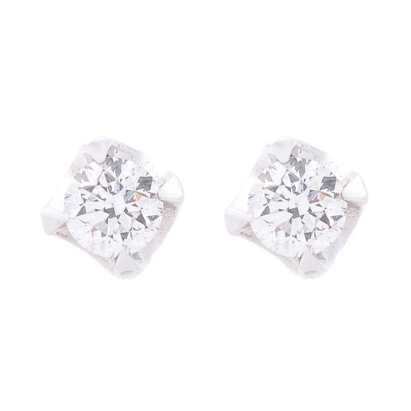 Гвоздики из белого золота Оникс с бриллиантами