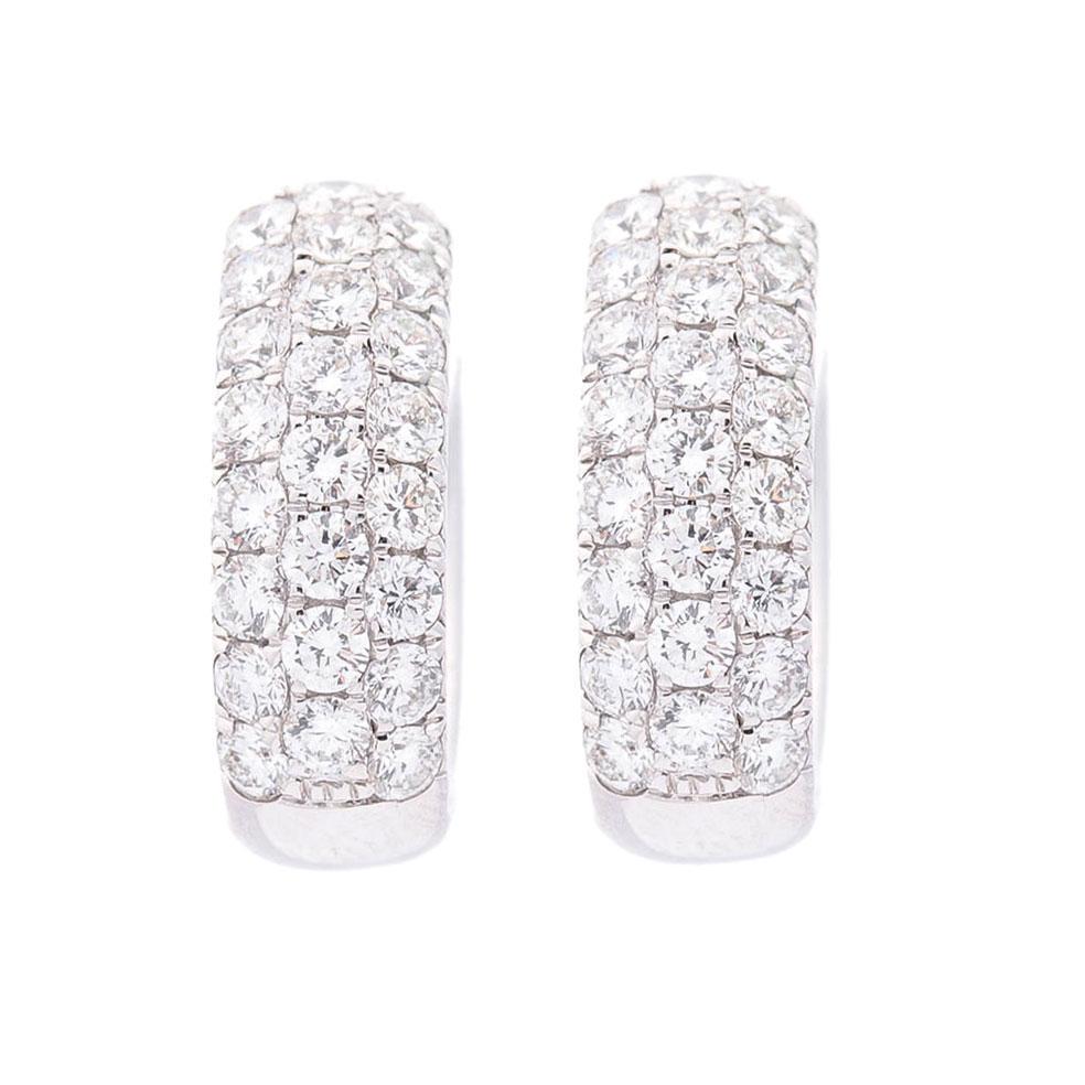 Cерьги-кольца Оникс с белыми бриллиантами