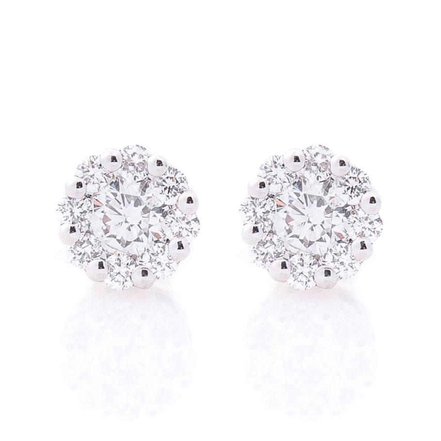Маленькие гвоздики Оникс круглые с бриллиантами