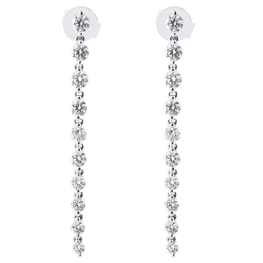 Длинные серьги Оникс из золота с бриллиантами