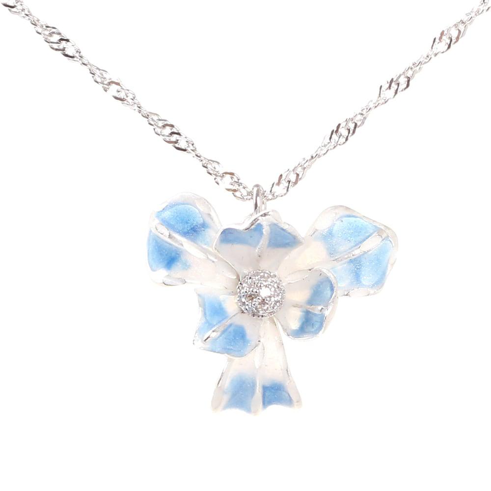 Подвеска Misis Gemina с цветком ириса голубого цвета