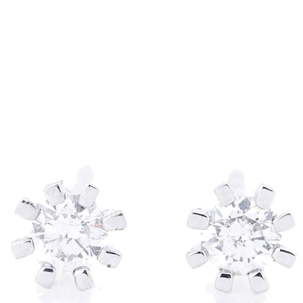 Серьги с бриллиантами Оникс в форме снежинок