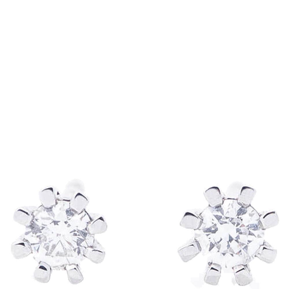 Золотые серьги-пусеты Оникс с бриллиантами