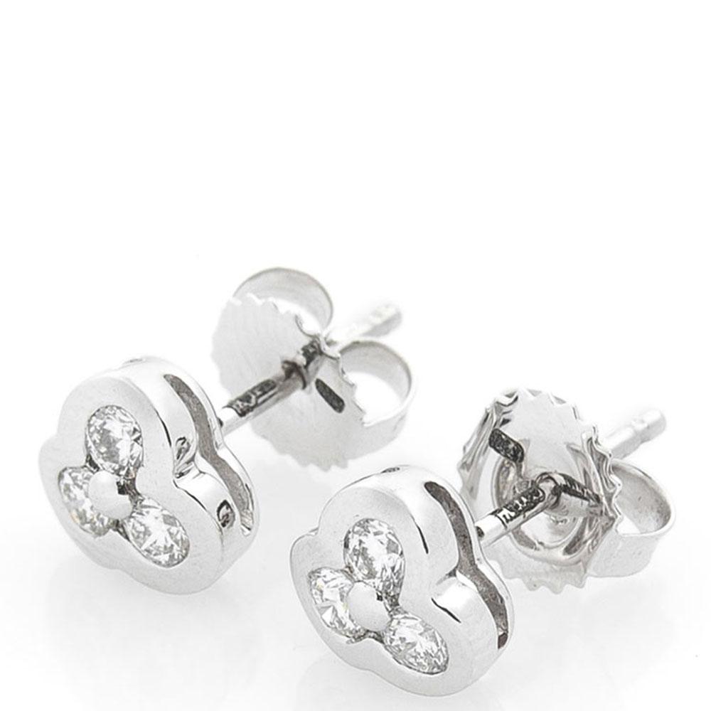 Серьги Оникс из белого золота с бриллиантами