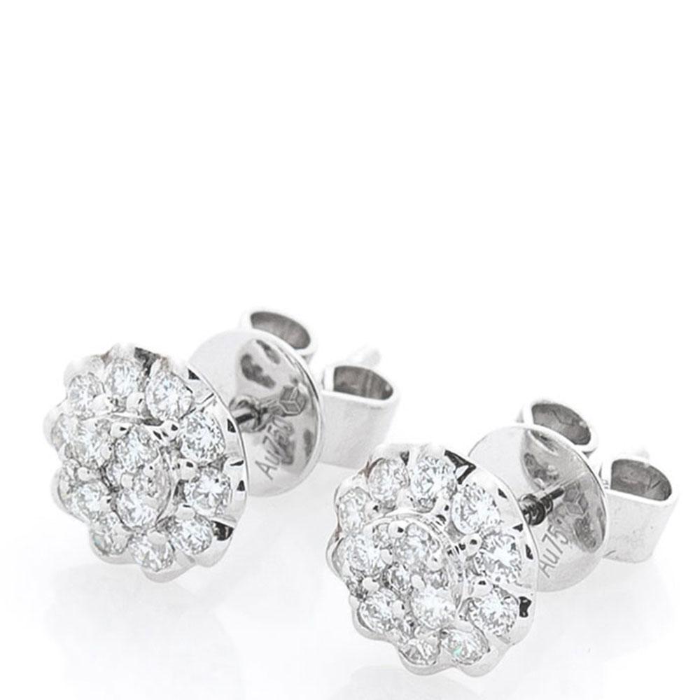 Серьги-пусеты Оникс из золота с бриллиантами