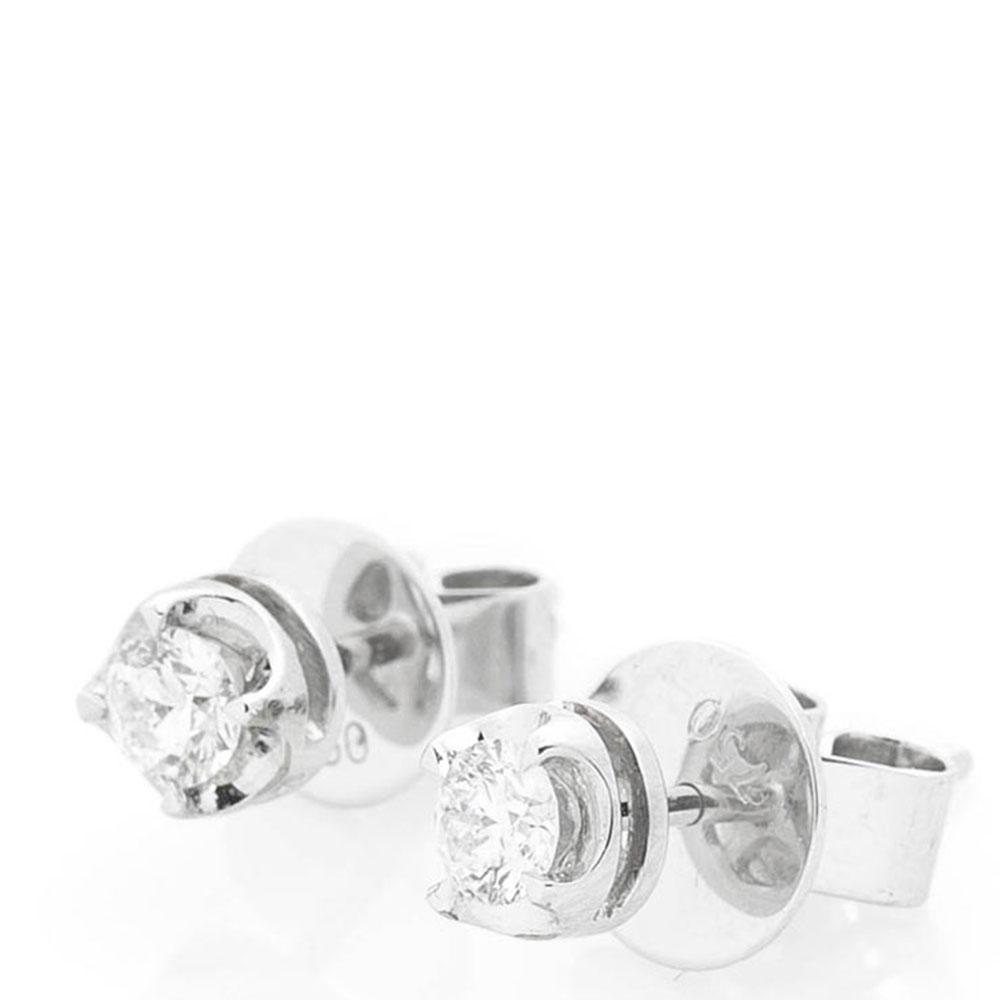 Серьги из белого золота Оникс с бриллиантами