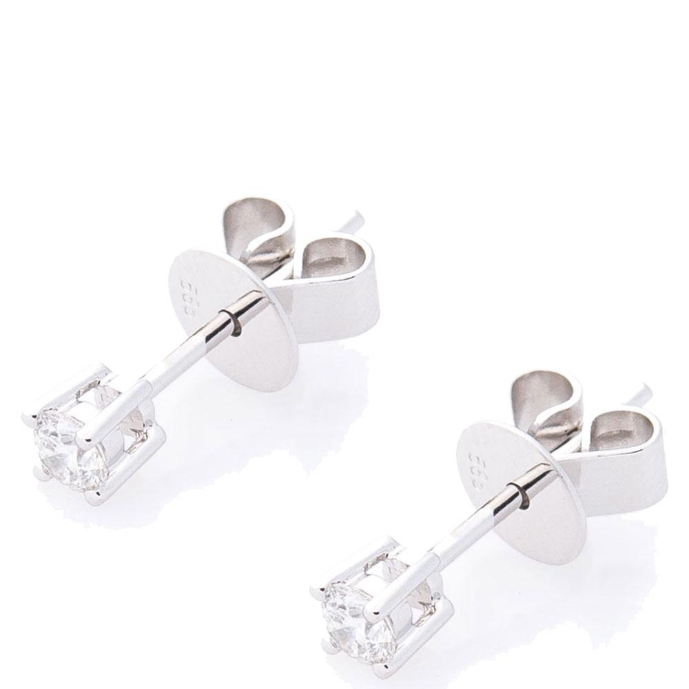 Золотые гвоздики Оникс с бриллиантами