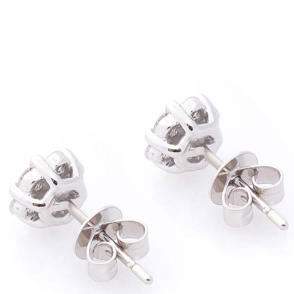 Серьги-пусеты с бриллиантами Оникс золотые