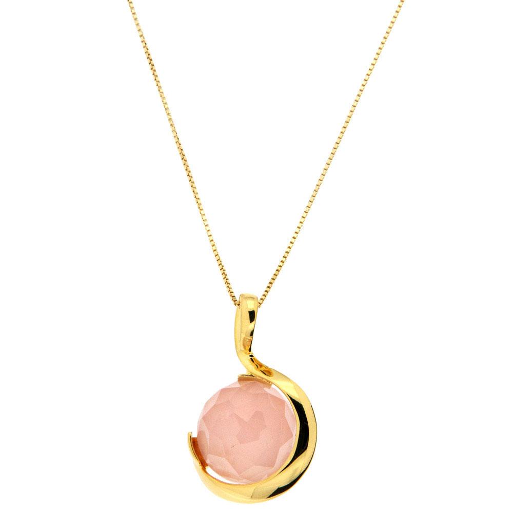 Кулон Misis Pienza с розовым опалом