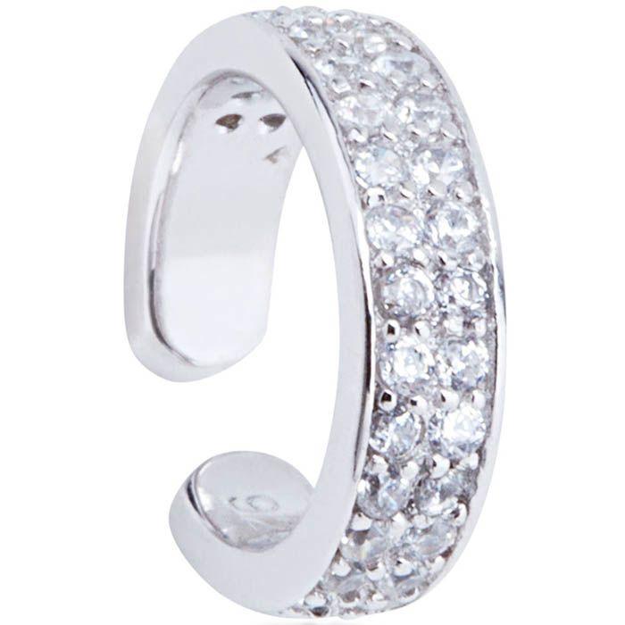 Серьга-кафф Armadoro Jewelry серебряная с цирконами