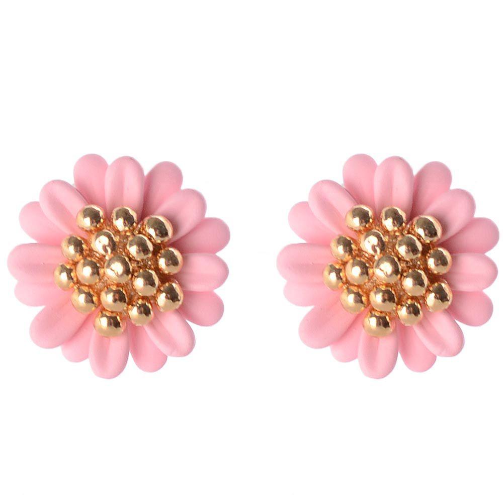 Серьги-пусеты в виде розовых цветов