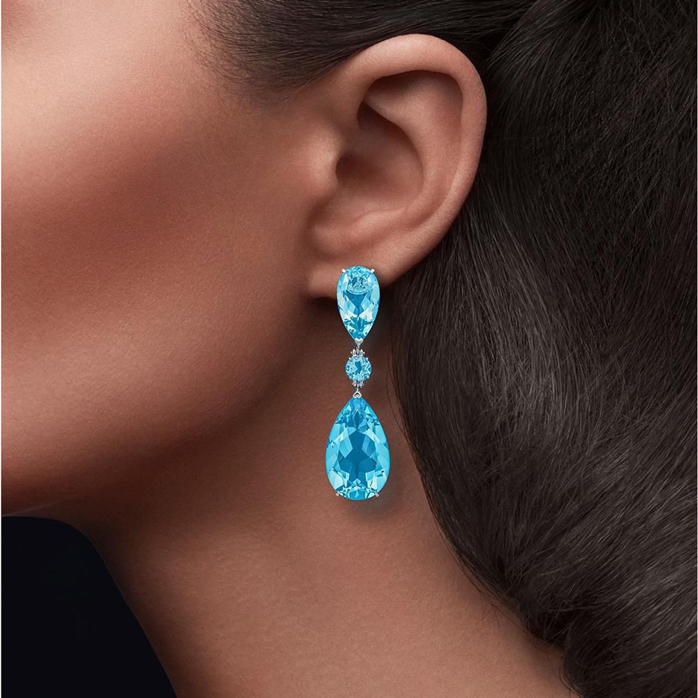 Серебряные серьги Cava.cool с голубым кварцем