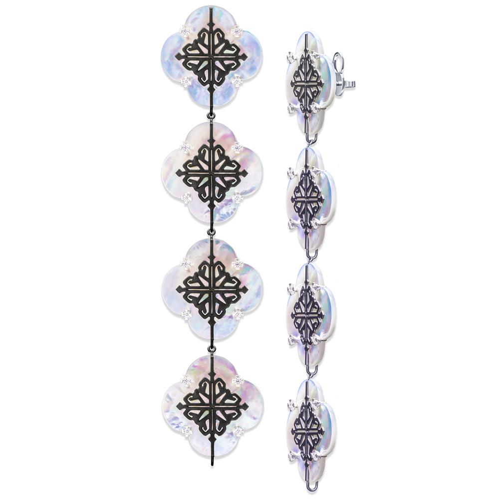 Серьги-конструктор Cava.cool Luxury Kit из серебра на 4 ячейки