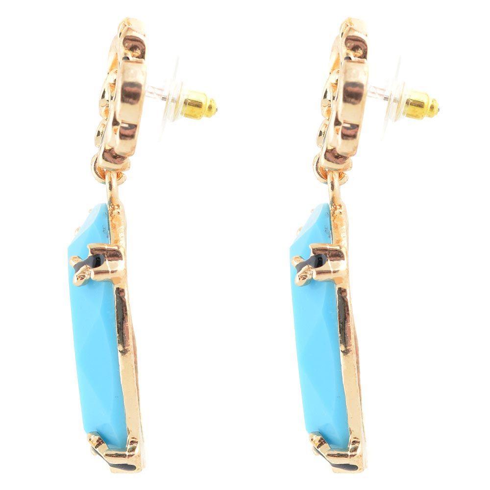 Пуссеты Jewels с кабошоном глубокого голубого цвета