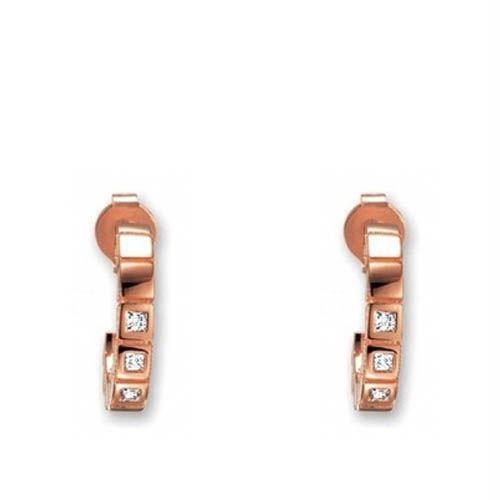 Серьги ESPRIT серебряные с позолотой