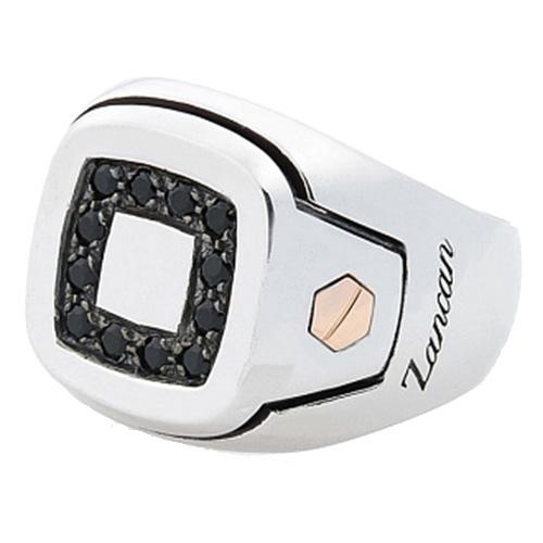 Мужской перстень-печатка Zancan Z-luxe