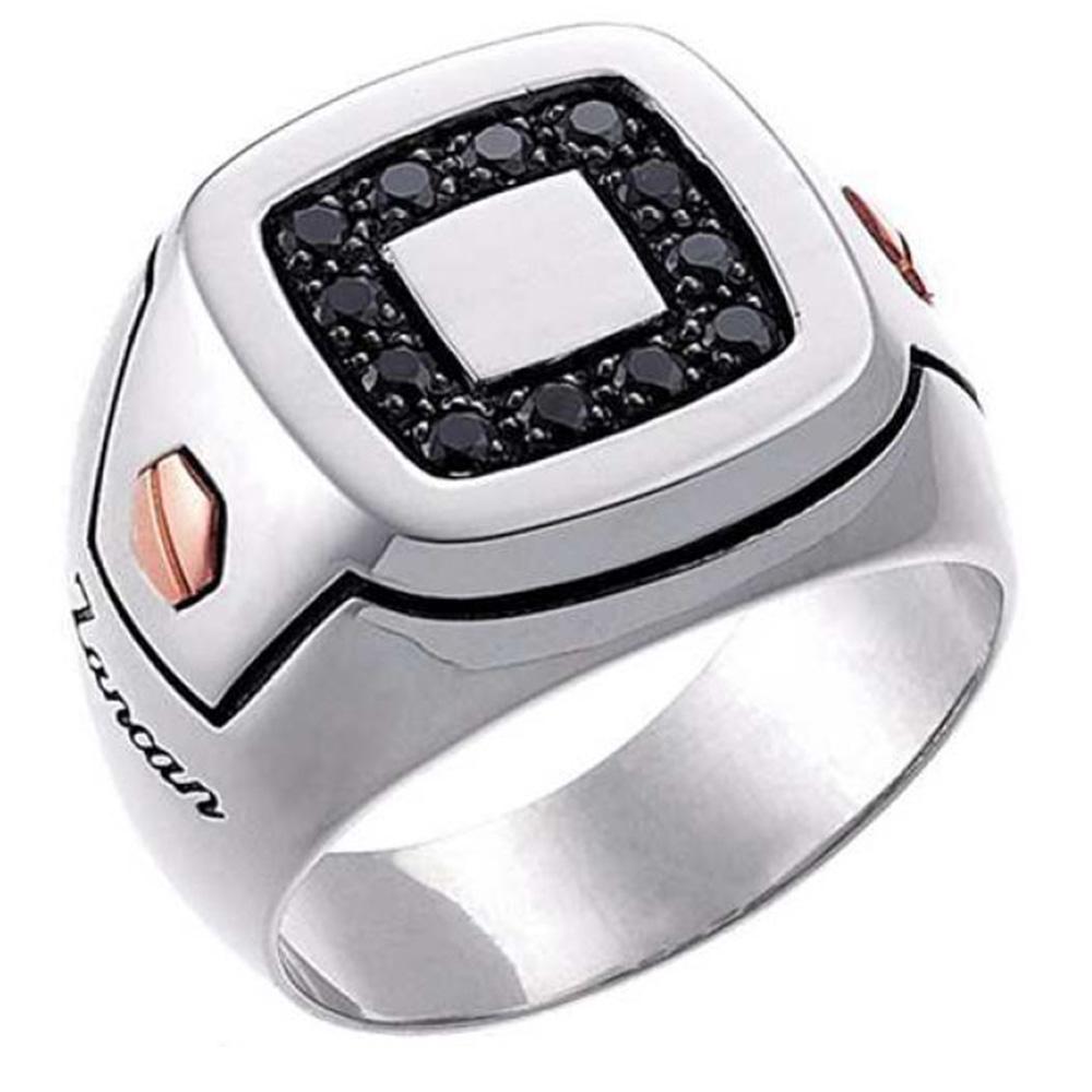 Мужской перстень Zancan Z-Luxe из серебра и золота