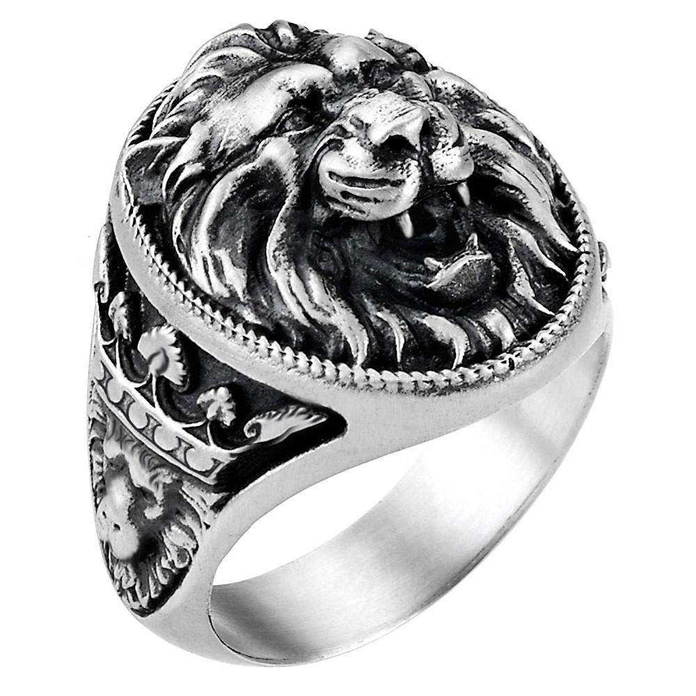 Кольцо Zancan Vintage с головой льва