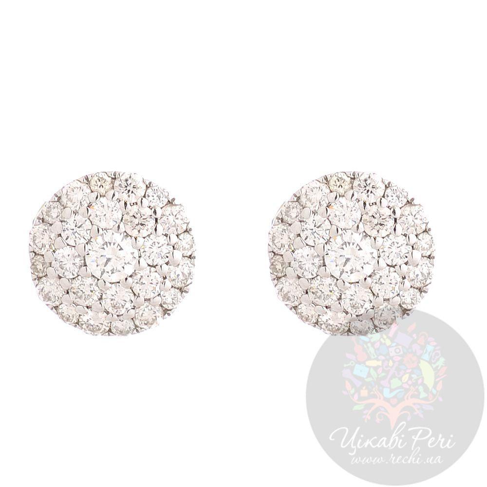 Серьги-гвоздики Francelli из белого золота с бриллиантами