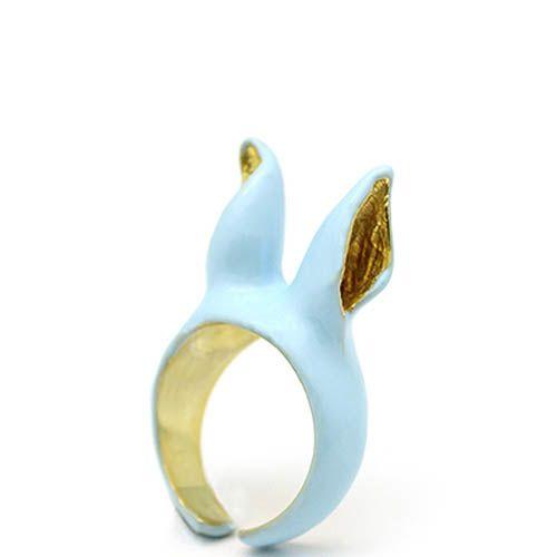Кольцо Good After Nine Ушки голубого цвета