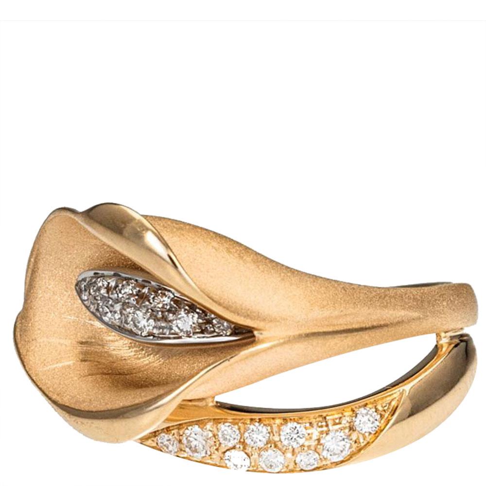 Кольцо Annamaria Cammilli Calla в форме цветка и бриллиантами