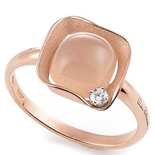 Тонкое кольцо Annamaria Cammilli Dune Cubic с кварцем