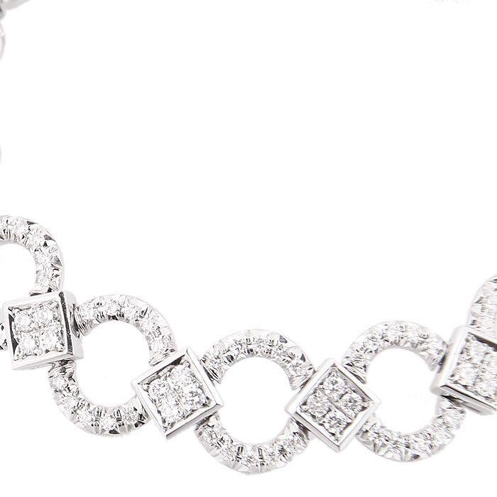Браслет Gianni Lazzaro из белого золота с бриллиантами резной