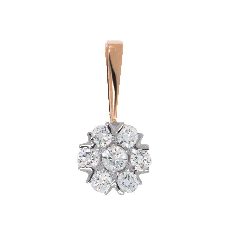Кулон из золота с бриллиантами