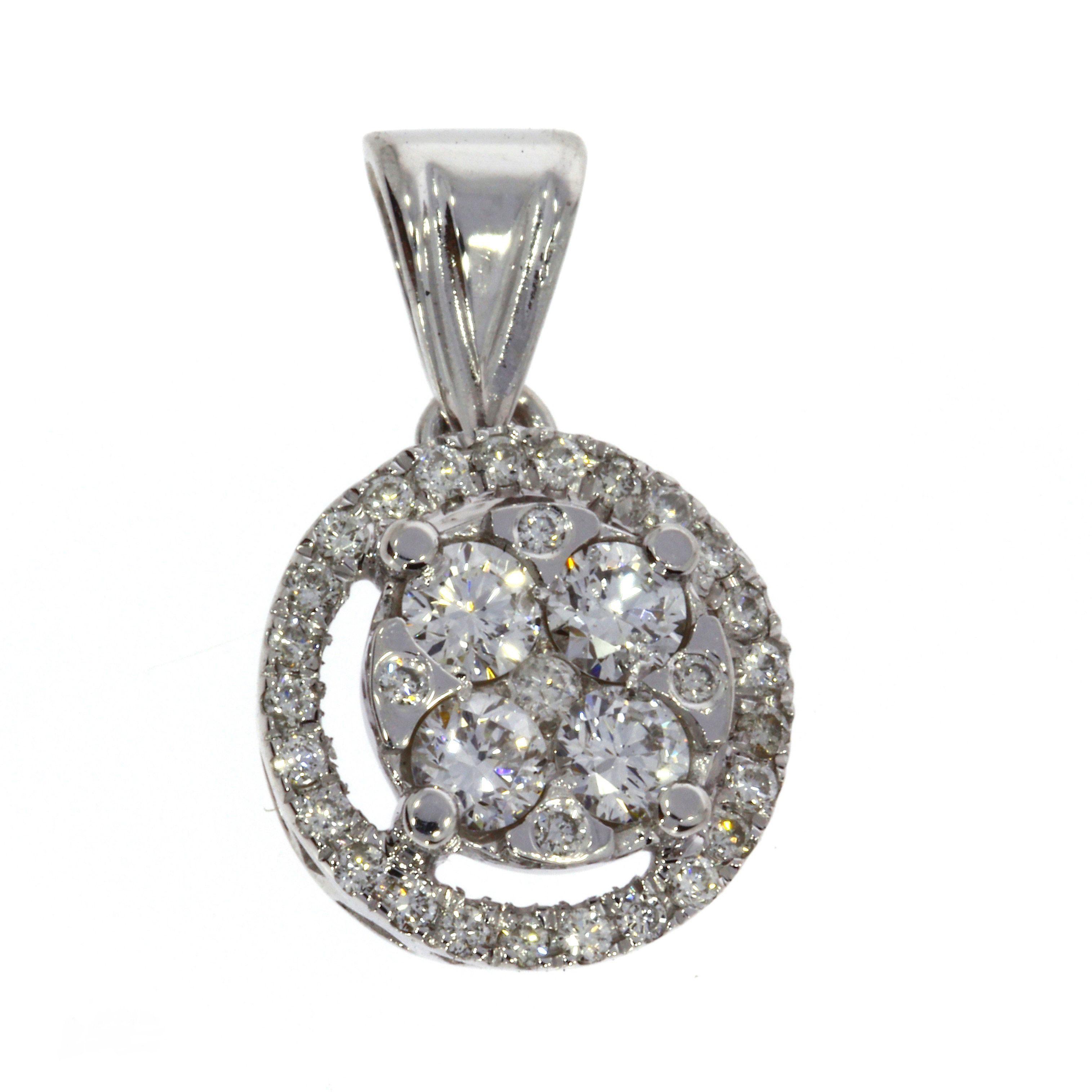 Кулон из белого золота с бриллиантами
