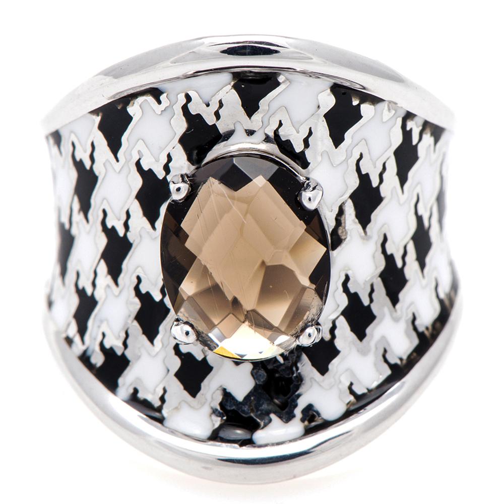 Серебряное кольцо 935 by Roberto Bravo с монохромным покрытием
