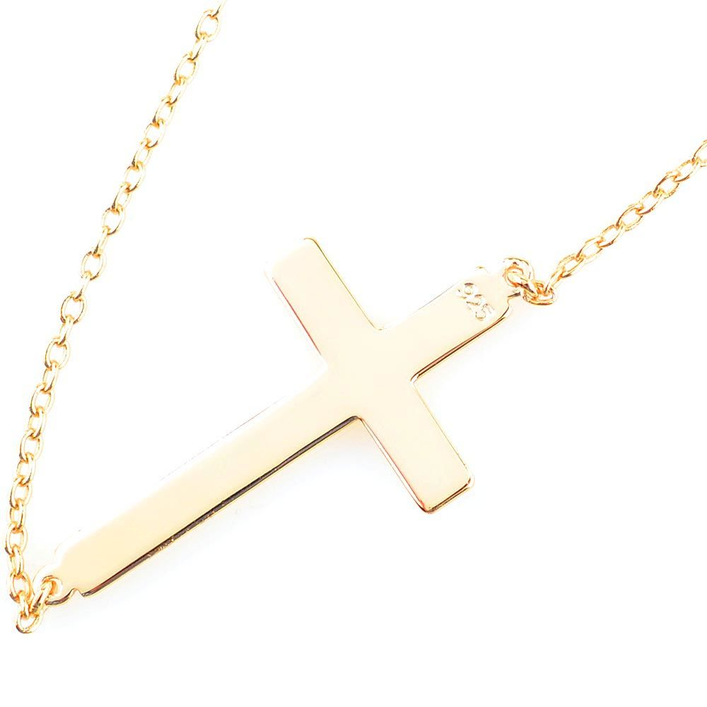 Браслет Jewels с напылением золота на тонкой цепочке с крестиком