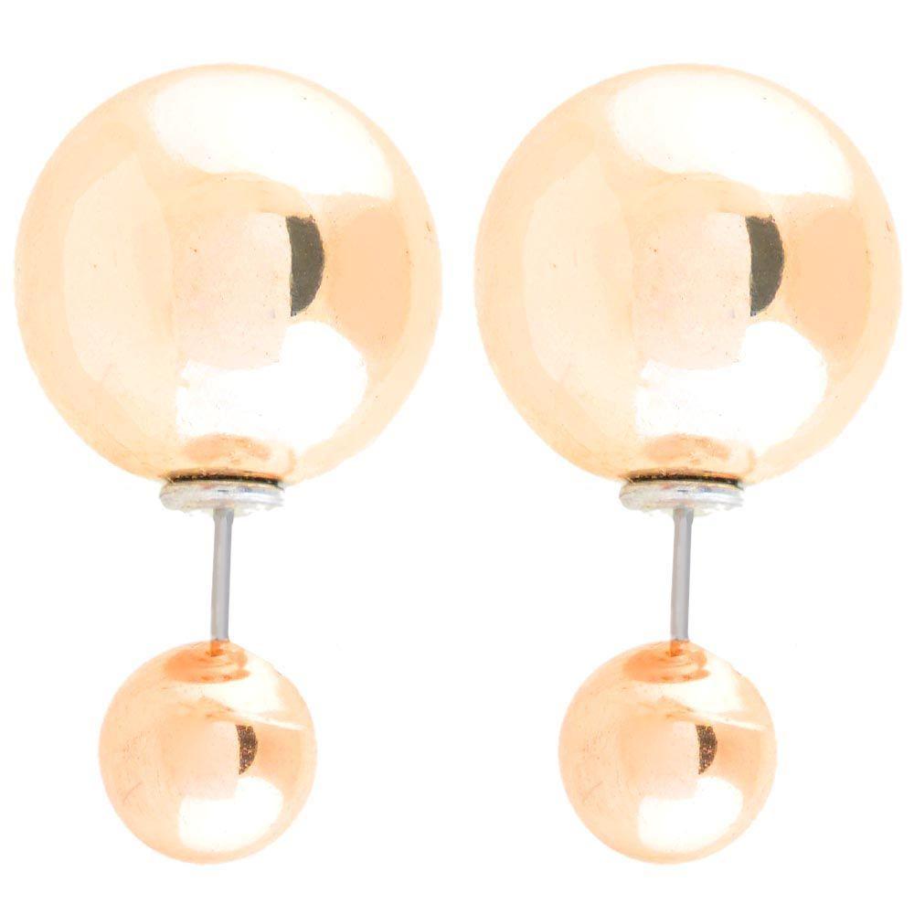 Ассиметричные пусеты Jewels золотого цвета глянцевые